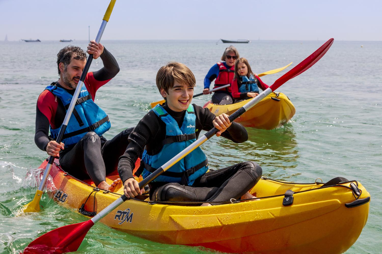 Kayak et Giant Paddle dans la Hague